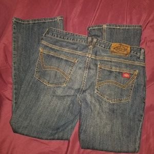 Womens Dickies Jeans sz 10p Slim Fit Boot Cut